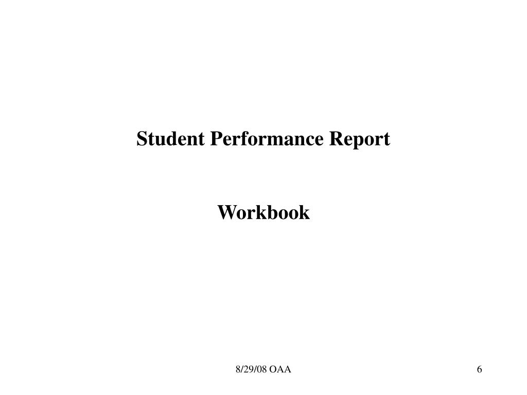 Student Performance Report