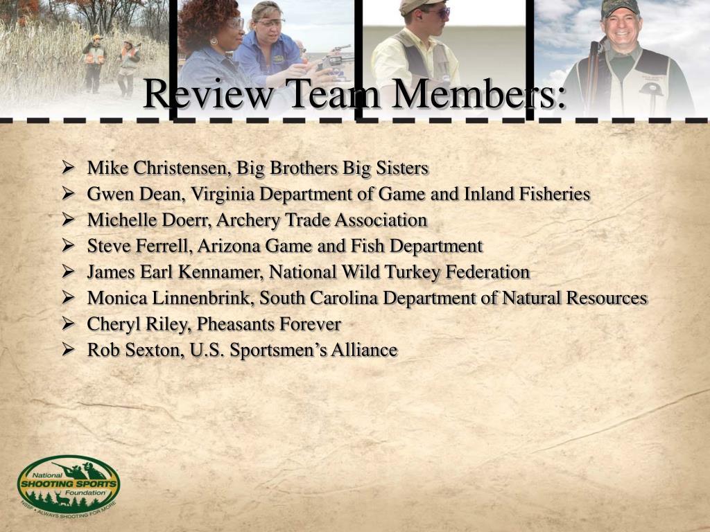 Review Team Members:
