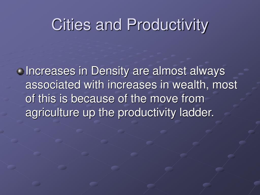 Cities and Productivity