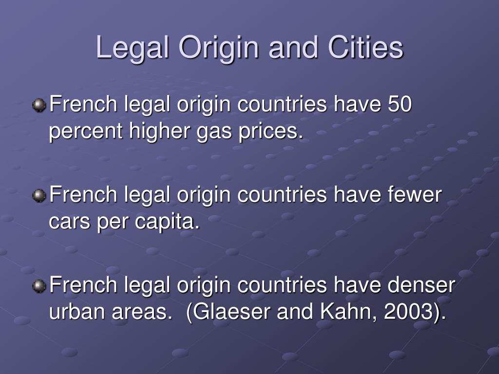 Legal Origin and Cities
