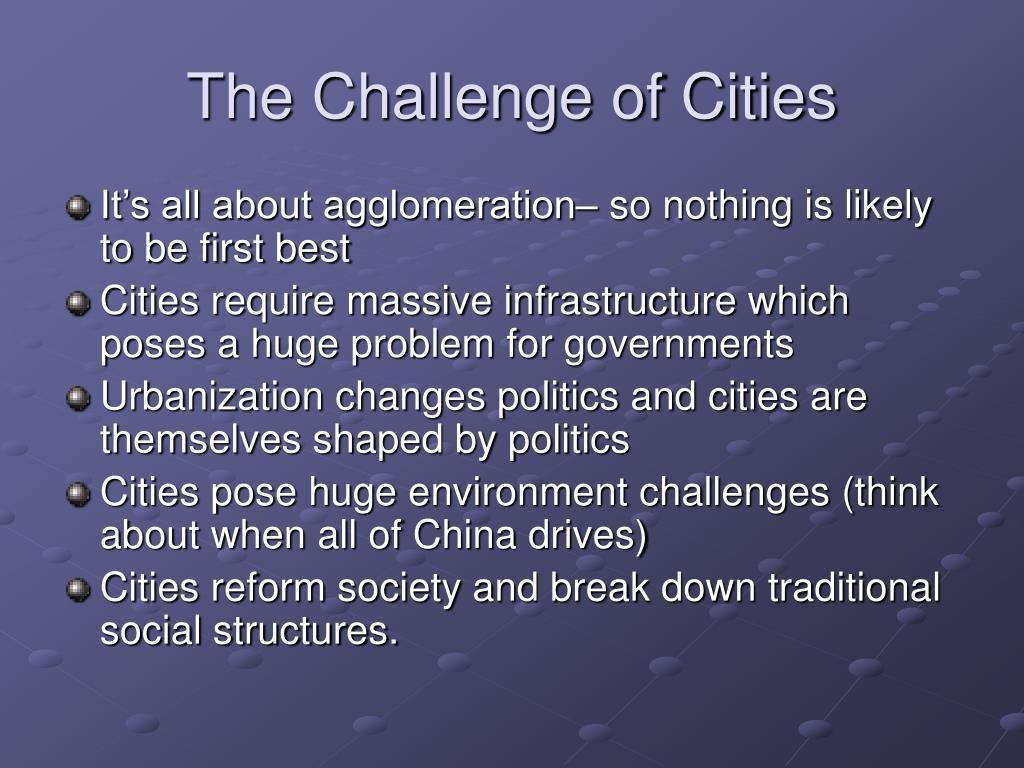 The Challenge of Cities