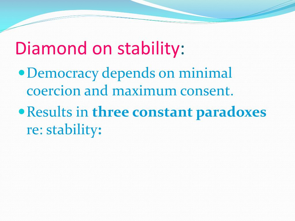 Diamond on stability