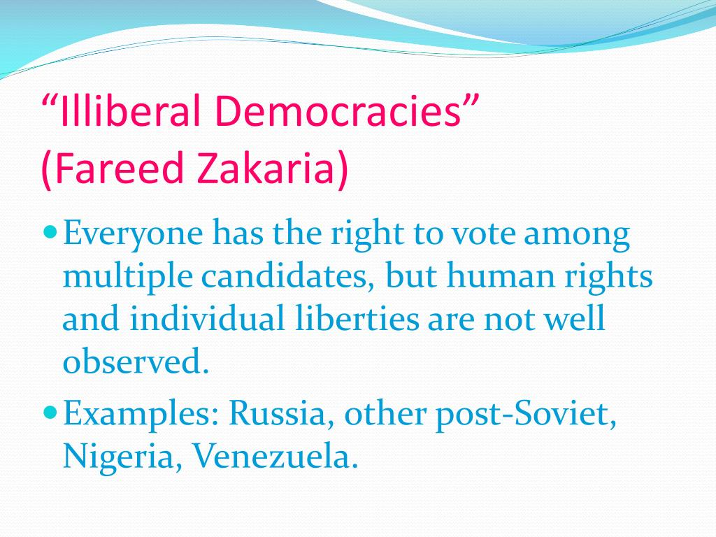 """Illiberal Democracies"""
