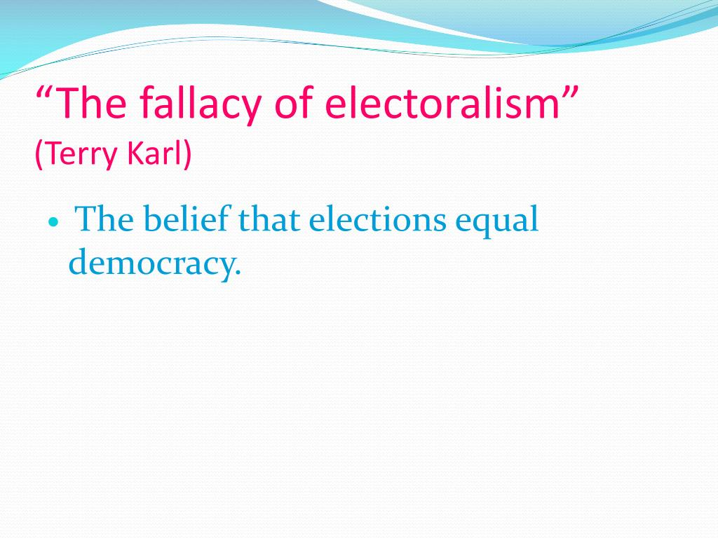 """The fallacy of"