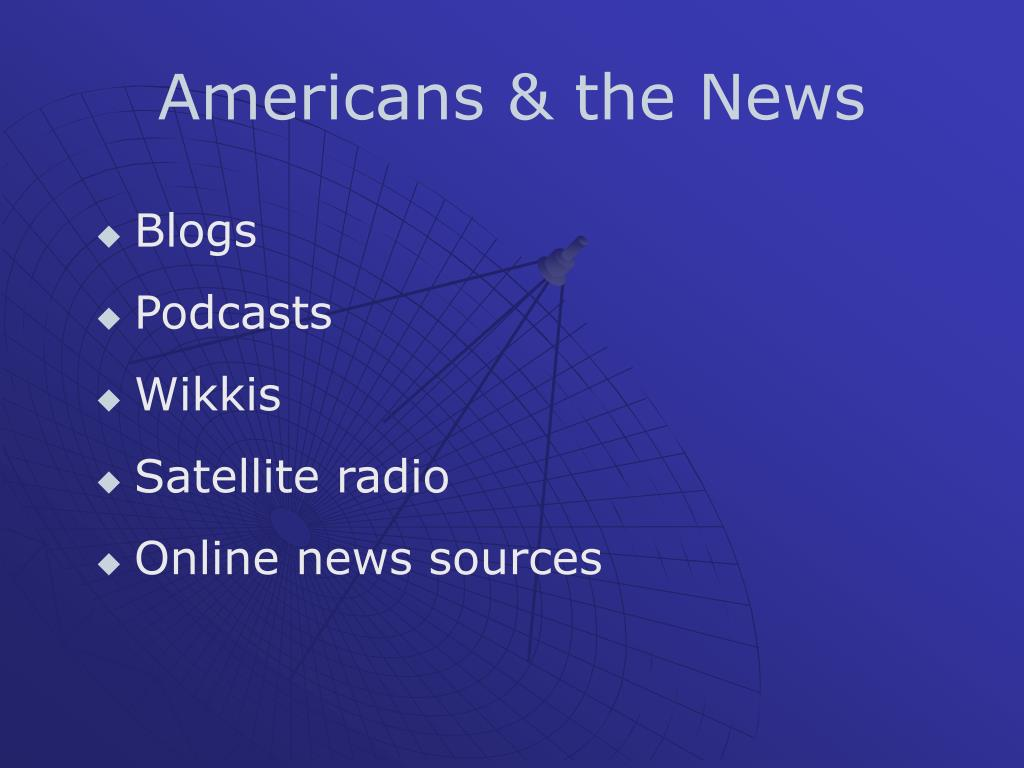 Americans & the News