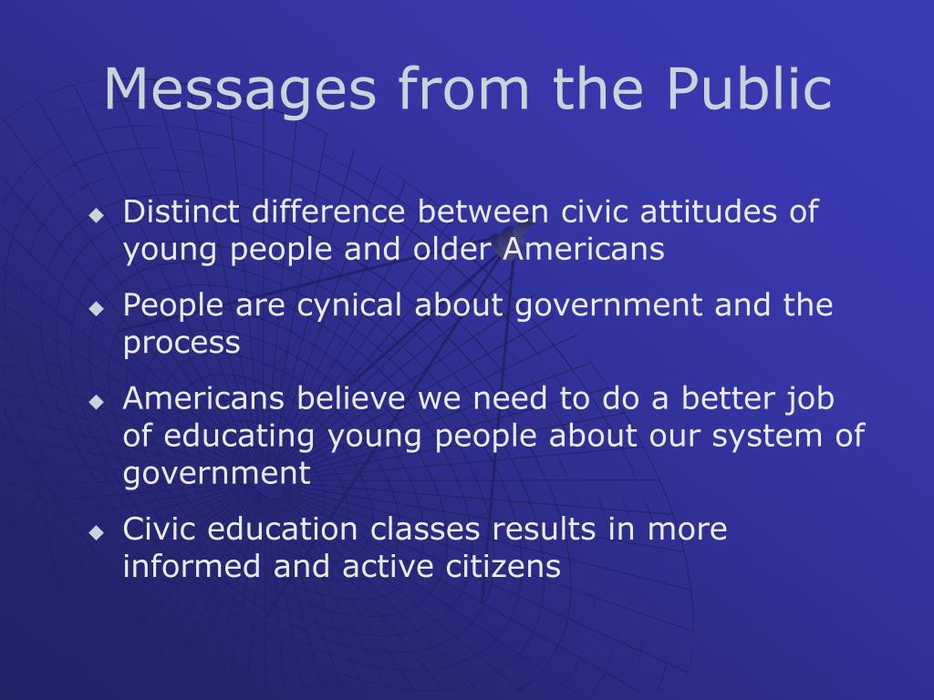 Messages from the Public