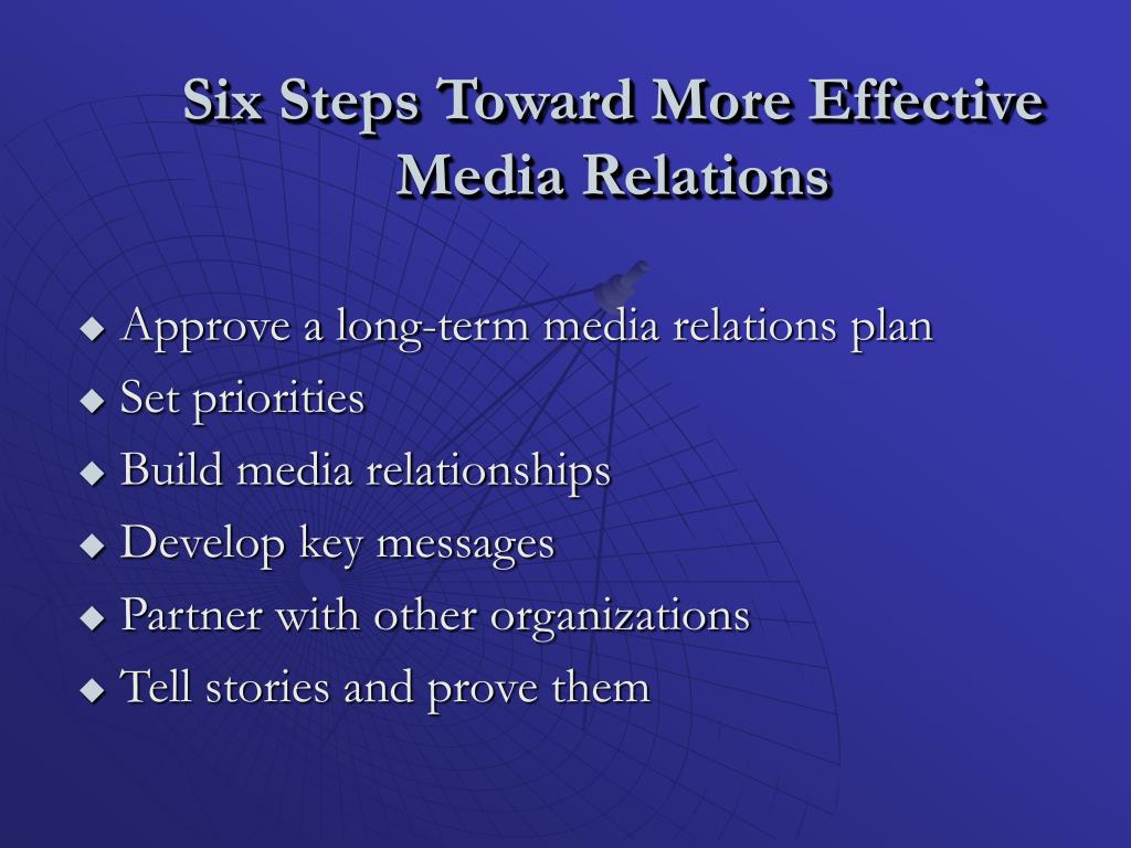Six Steps Toward More Effective