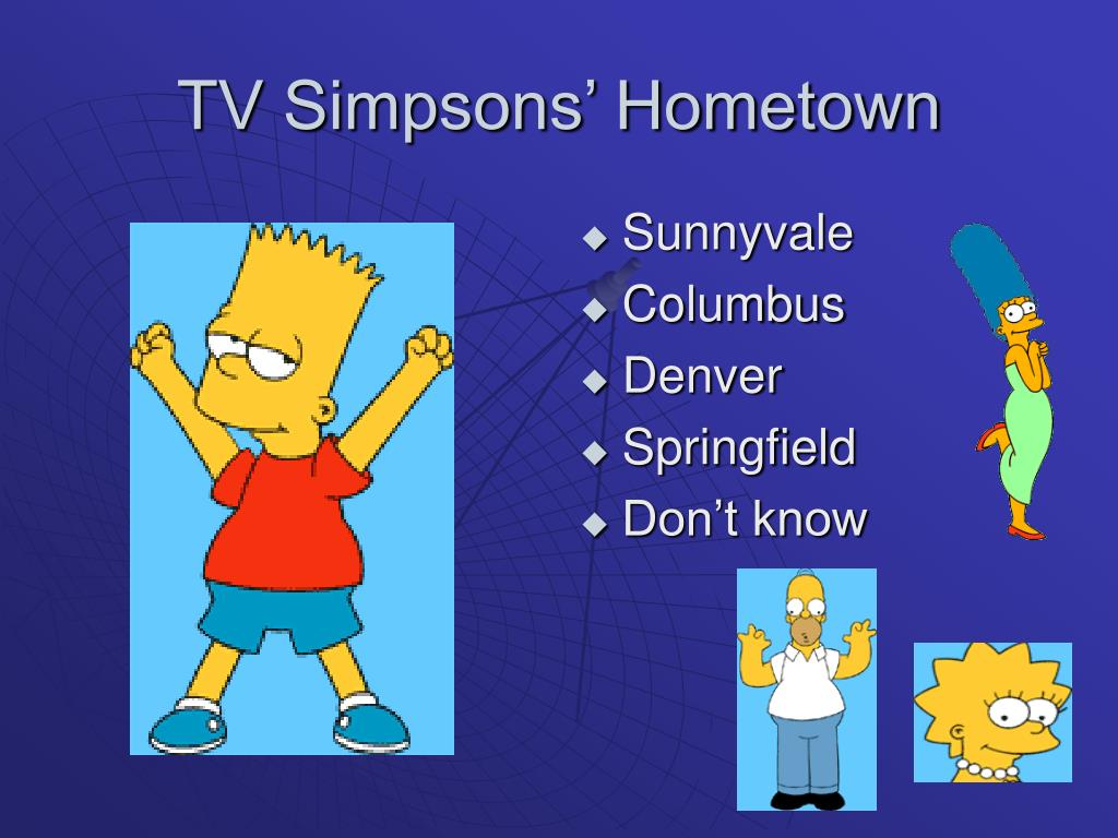 TV Simpsons' Hometown