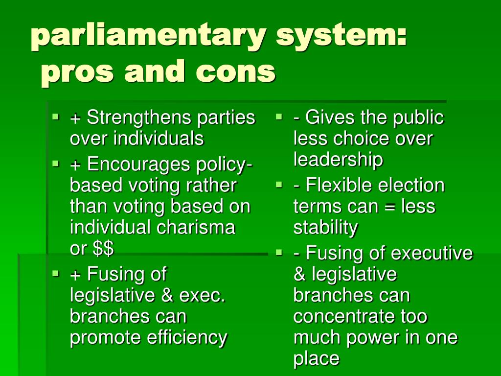 + Strengthens parties over individuals