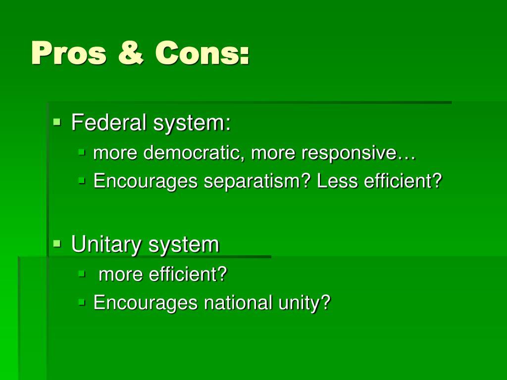 Pros & Cons: