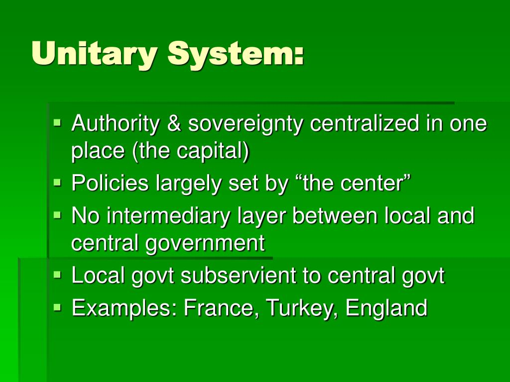 Unitary System: