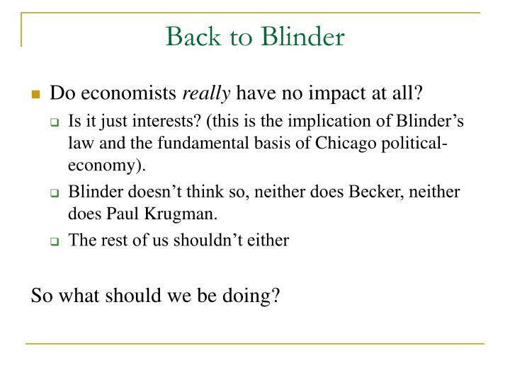 Back to Blinder