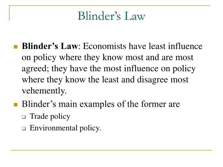 Blinder's Law