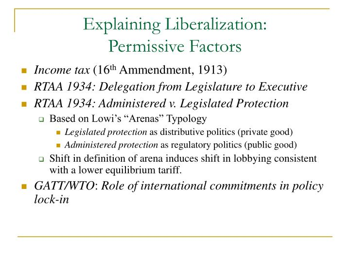 Explaining Liberalization: