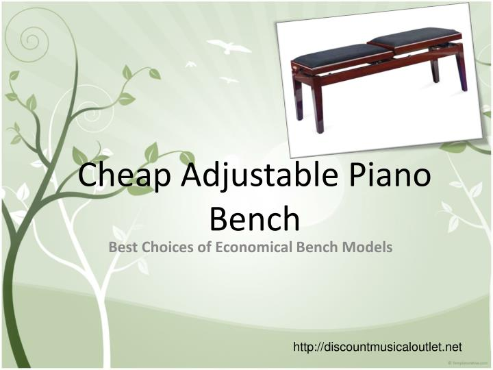 Cheap adjustable piano bench