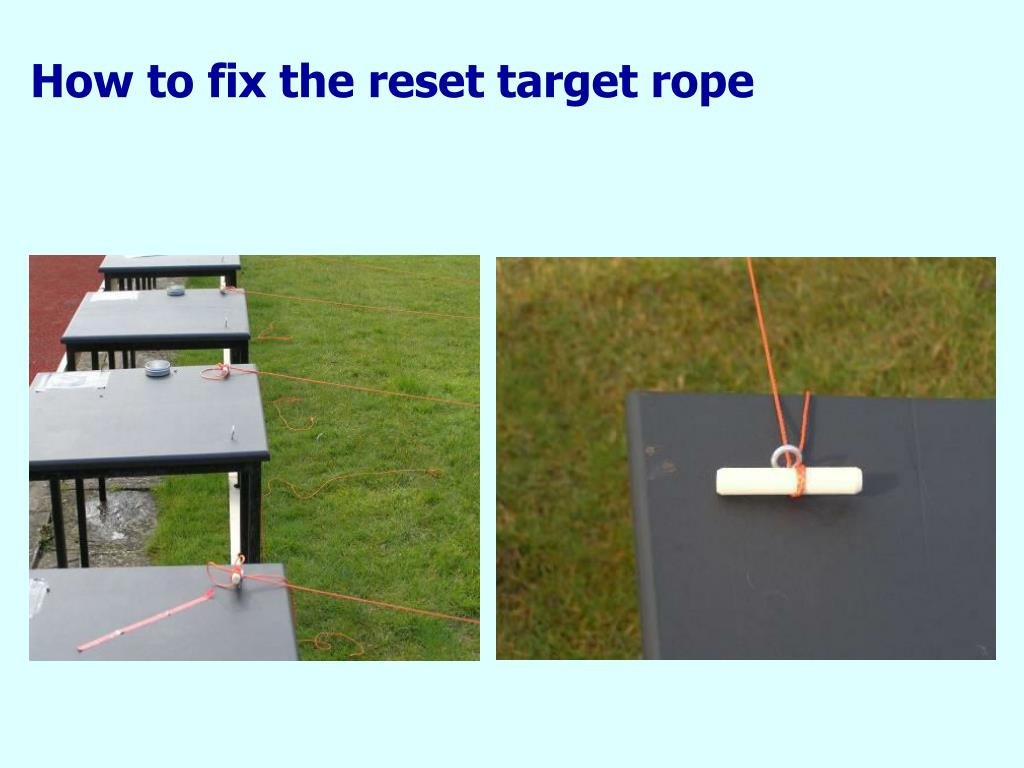How to fix the reset target rope