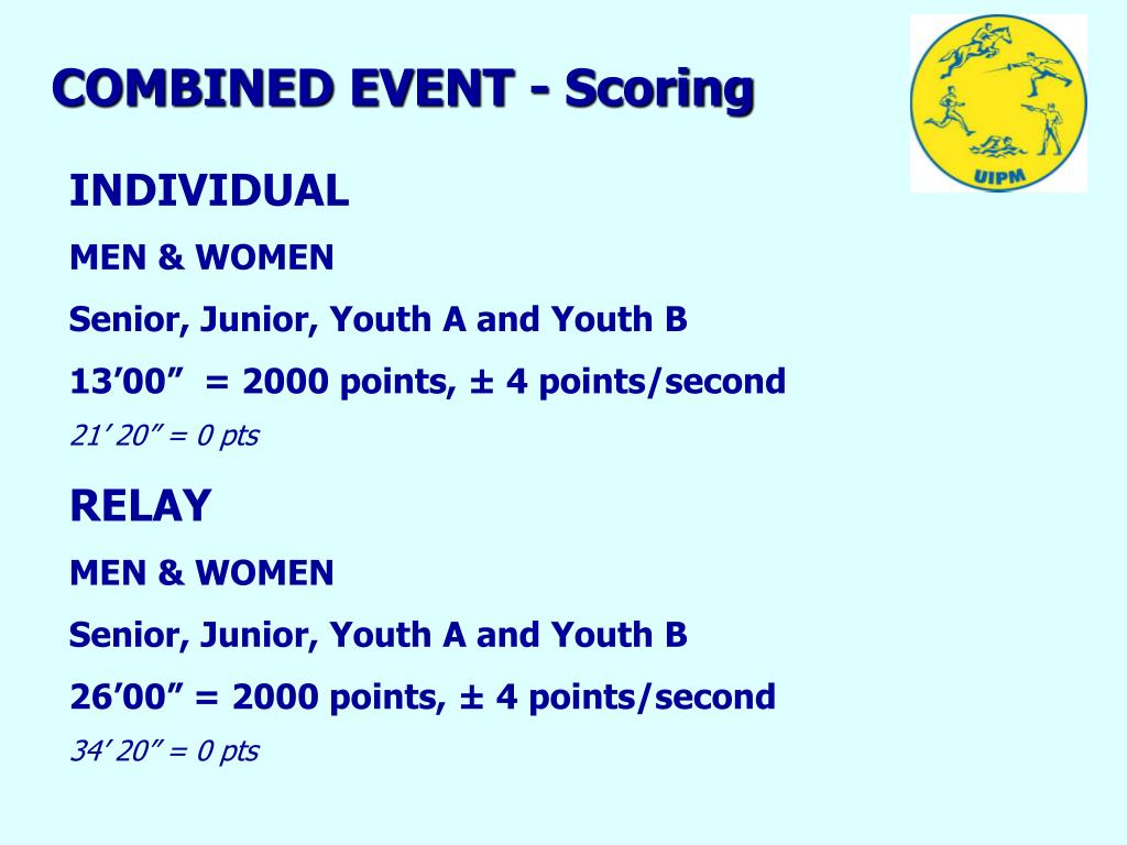 COMBINED EVENT - Scoring