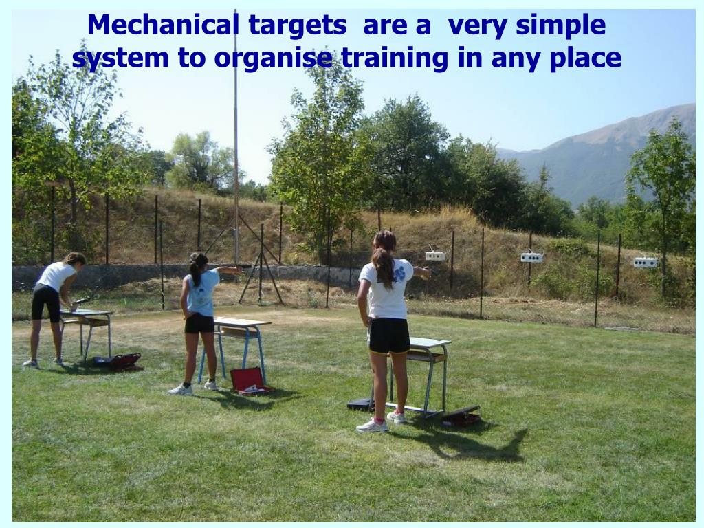 Mechanical targets  are a  very simple system to organise training in any place