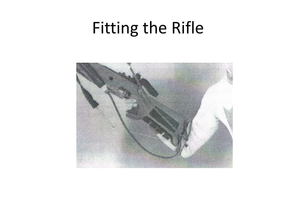 Fitting the Rifle