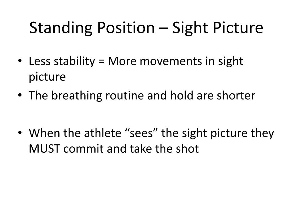 Standing Position – Sight Picture