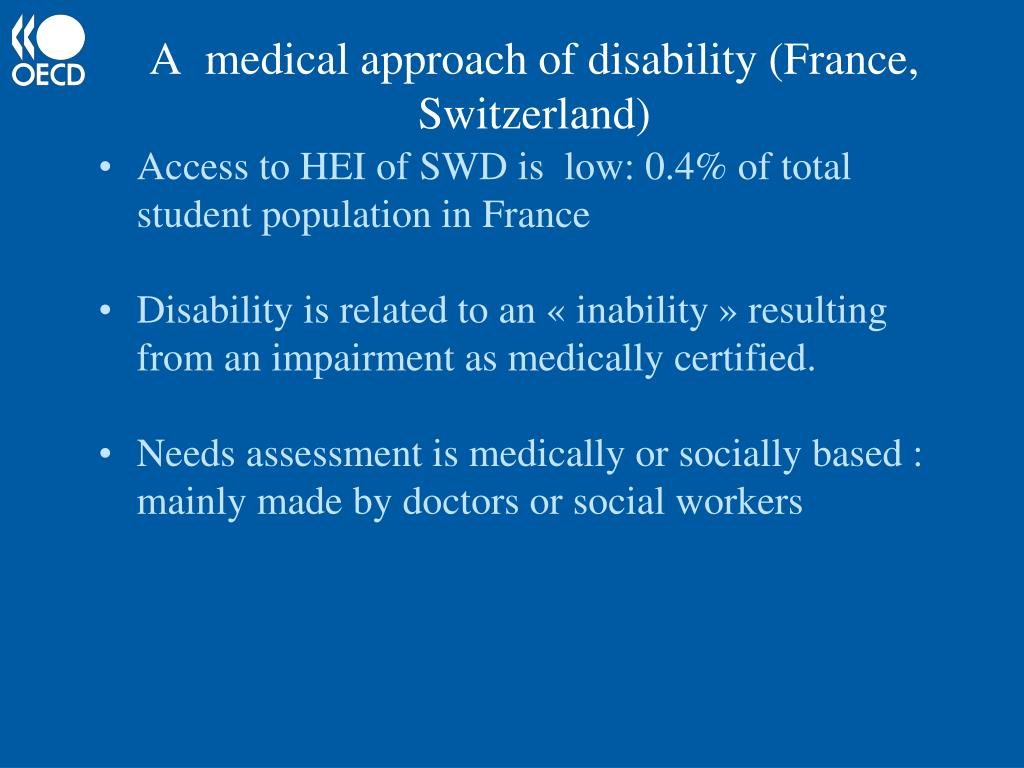 A  medical approach of disability (France, Switzerland)