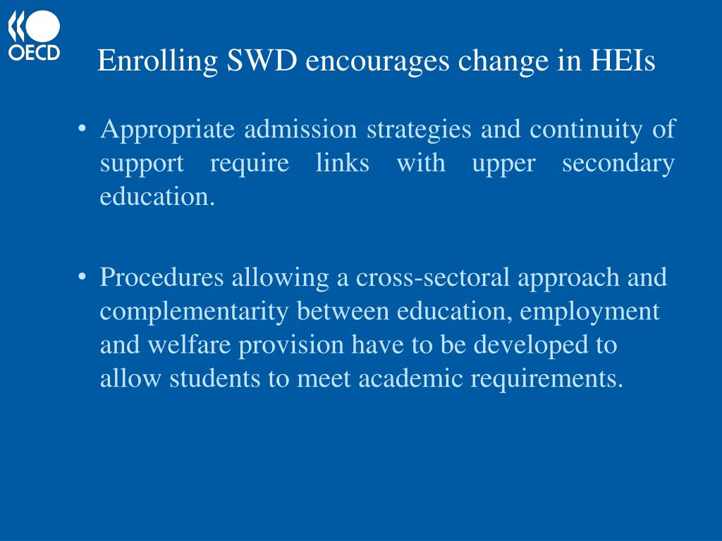 Enrolling SWD encourages change in HEIs