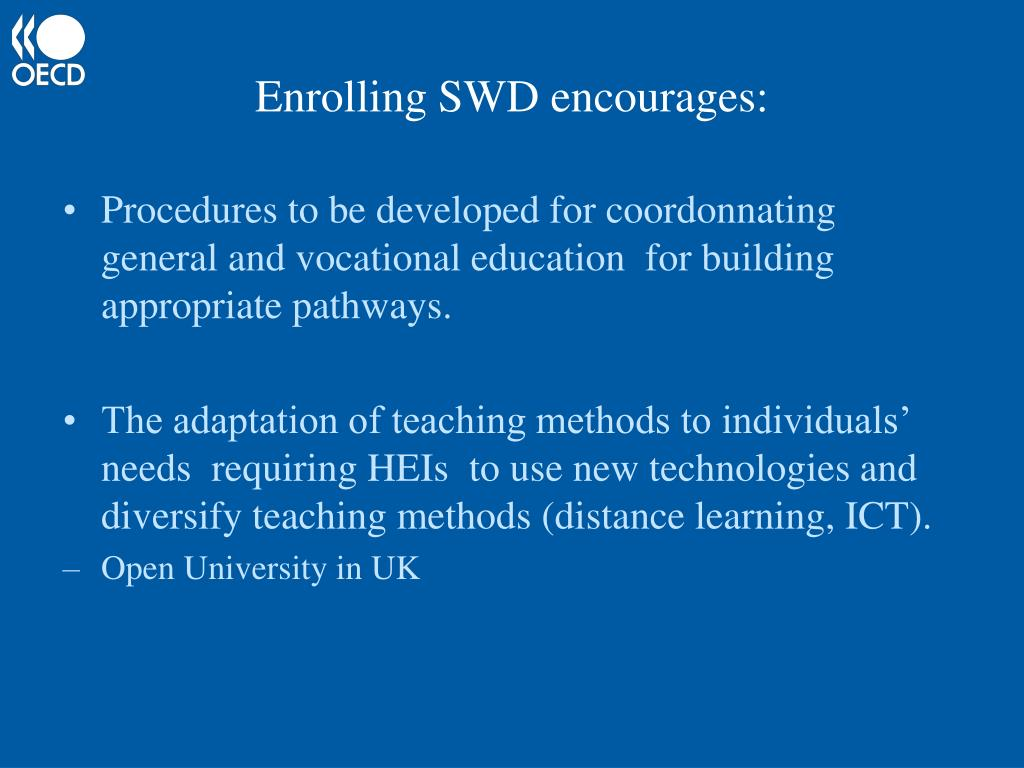 Enrolling SWD encourages: