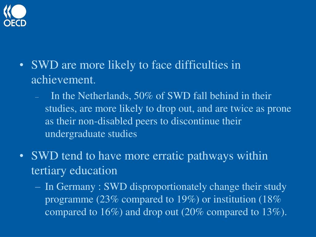 SWD are more likely to face difficulties in achievement