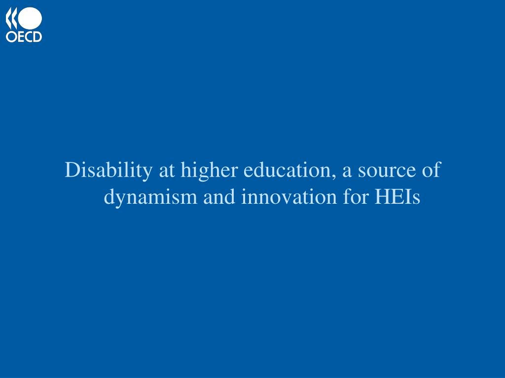 Disability at higher education, a source of dynamism and innovation for HEIs