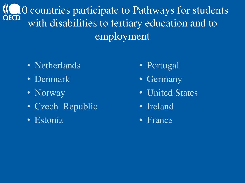 10 countries participate to Pathways for students with disabilities to tertiary education and to employment