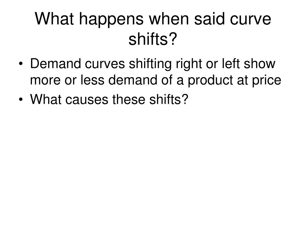 What happens when said curve shifts?