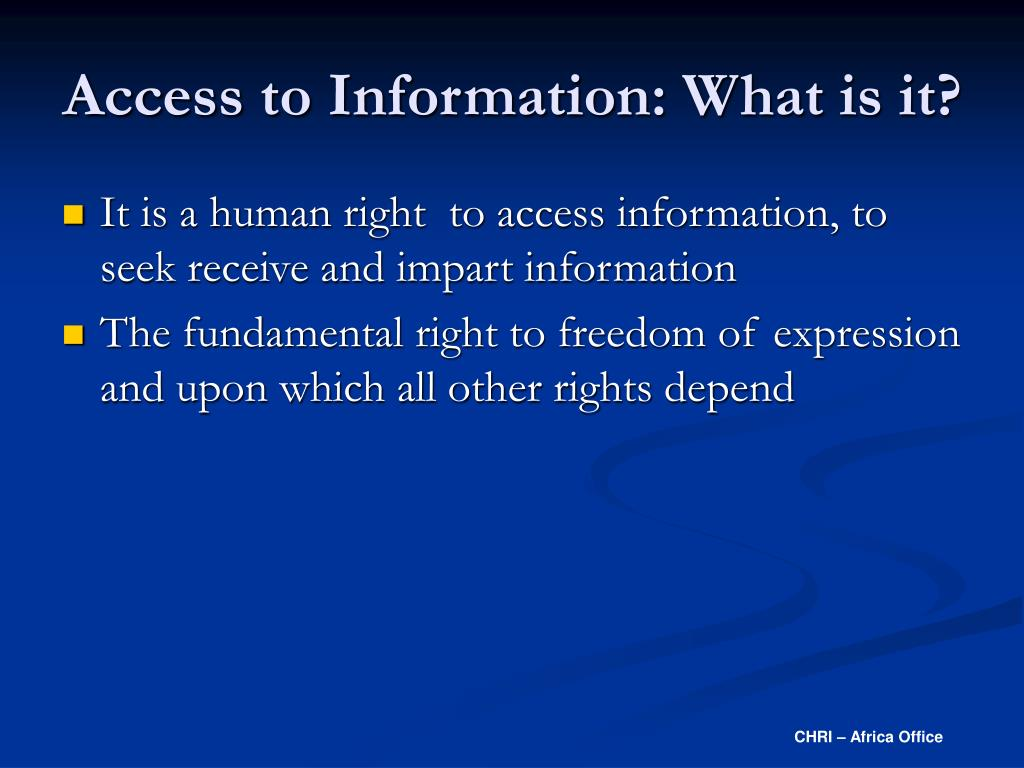 Access to Information: What is it?