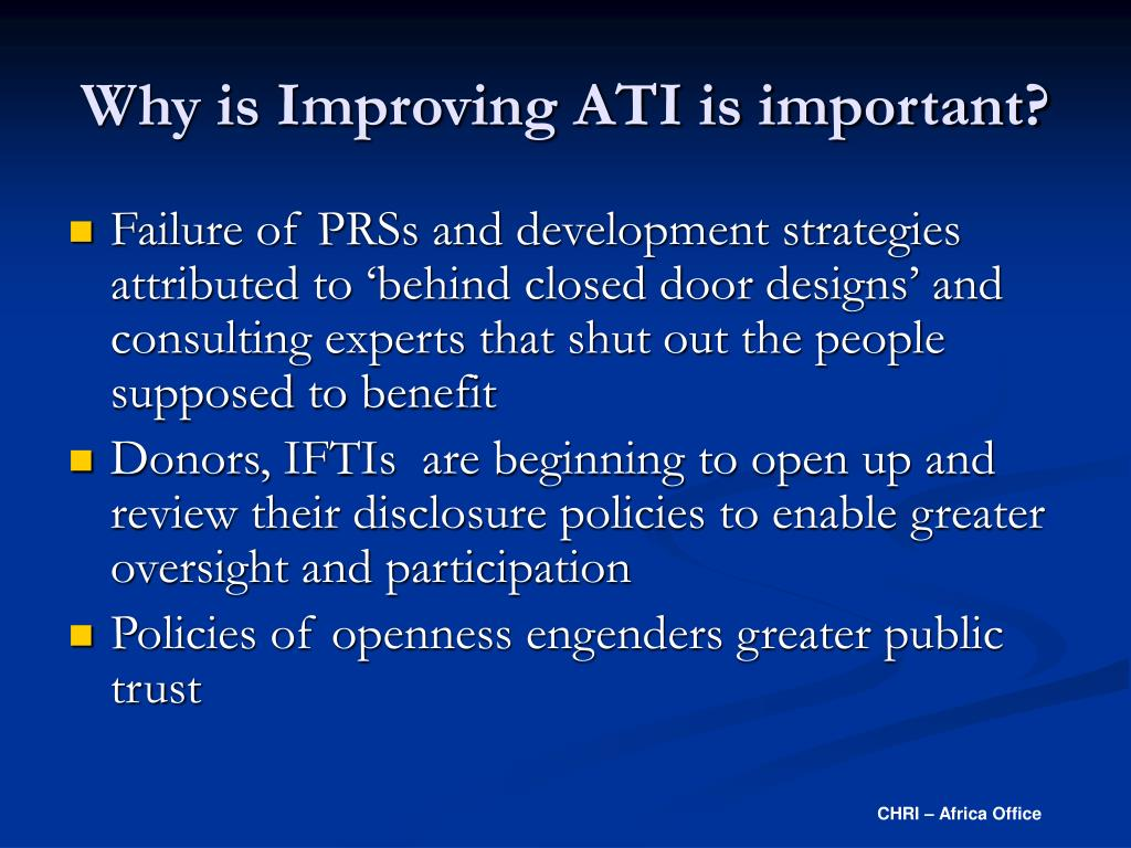 Why is Improving ATI is important?