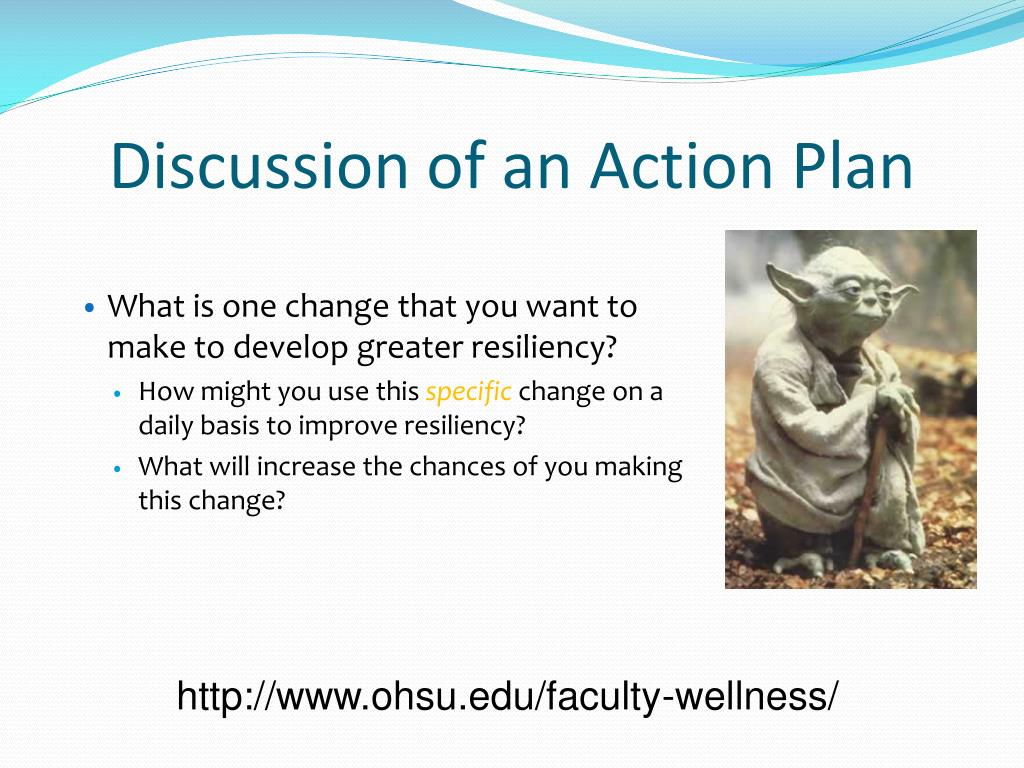 Discussion of an Action Plan