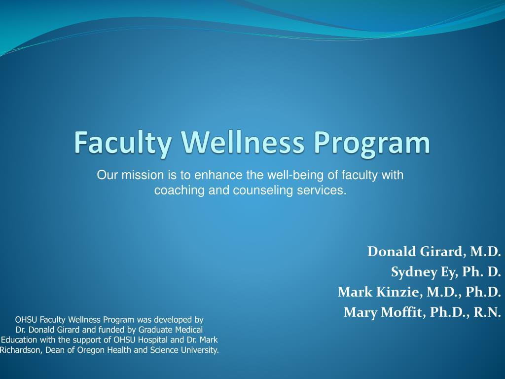 Faculty Wellness Program