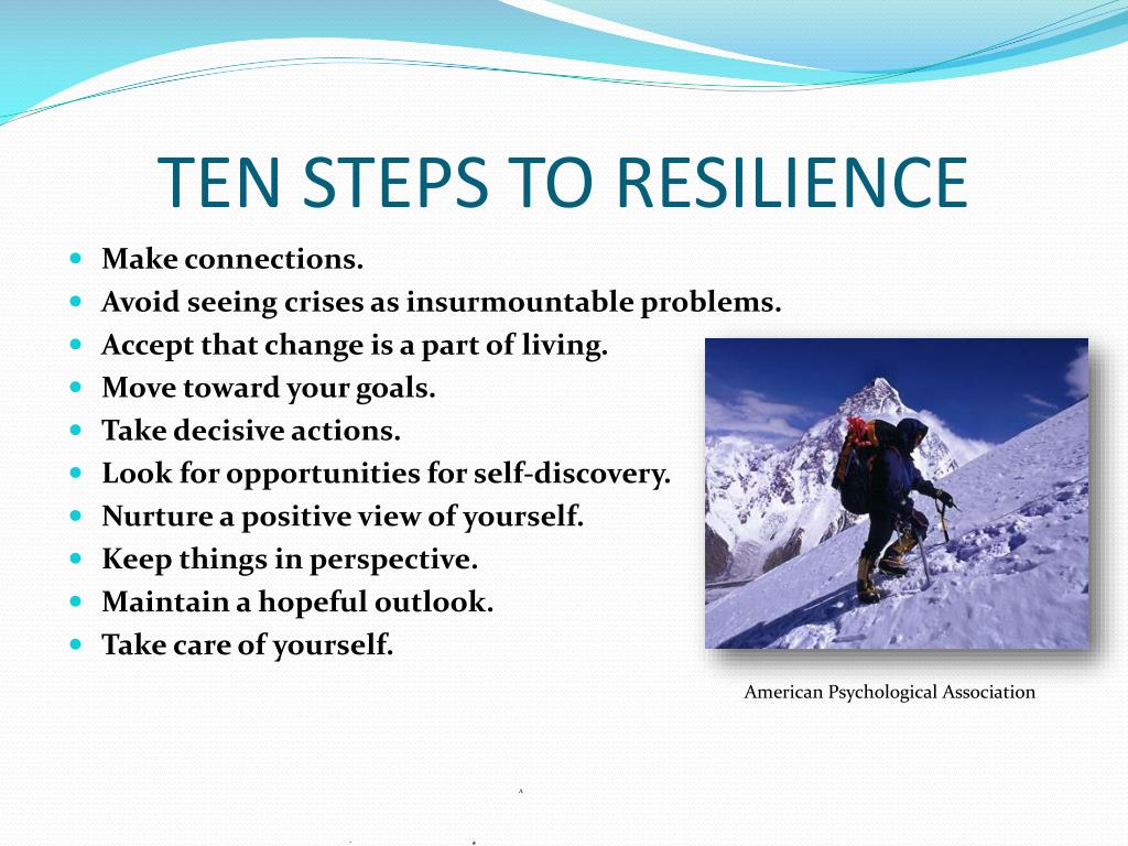 TEN STEPS TO RESILIENCE