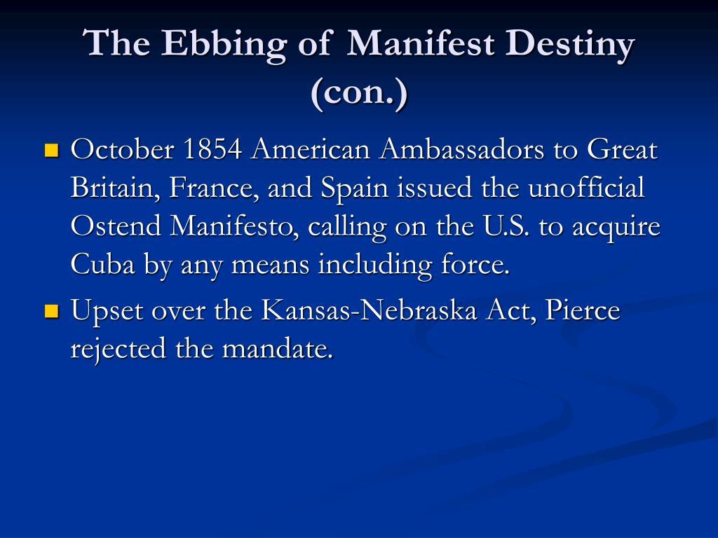 The Ebbing of Manifest Destiny (con.)