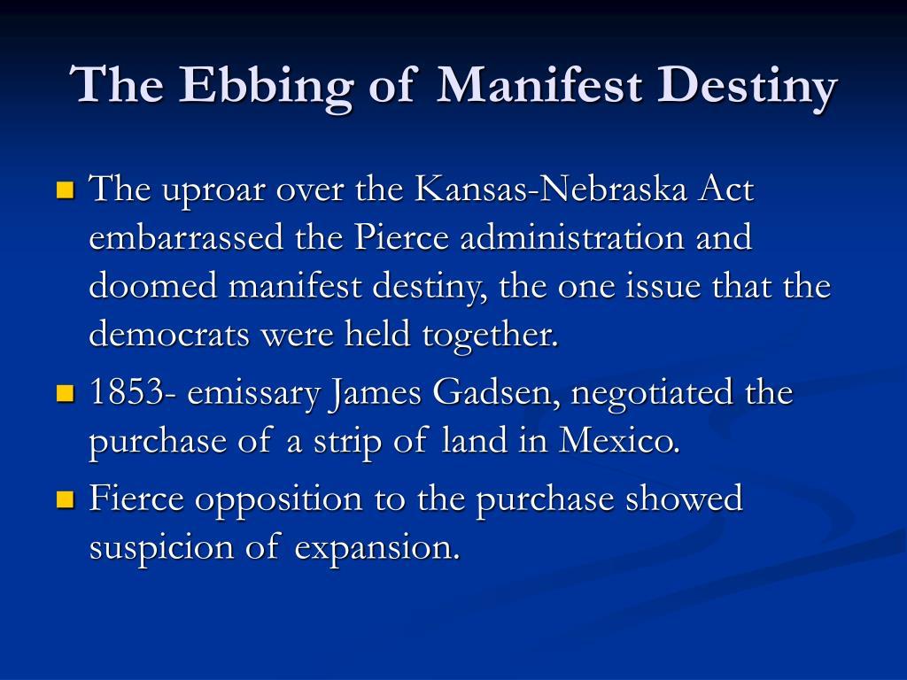 The Ebbing of Manifest Destiny