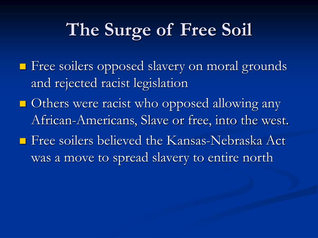 The Surge of Free Soil