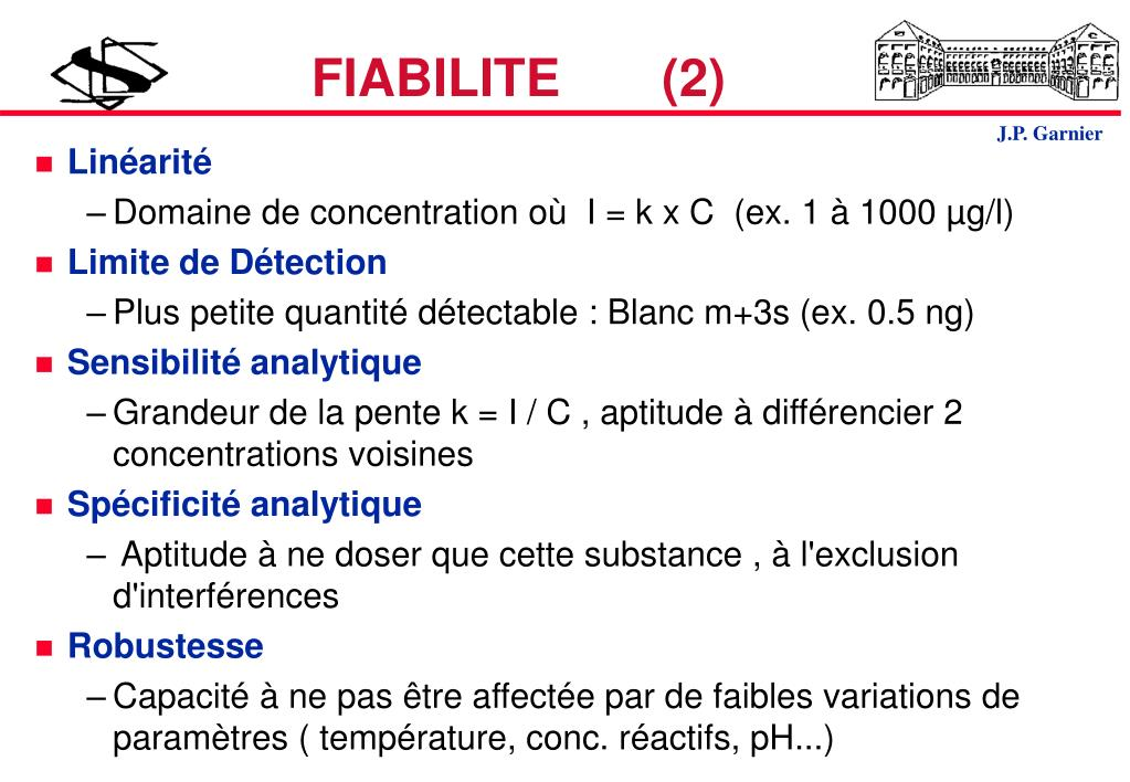 FIABILITE       (2)