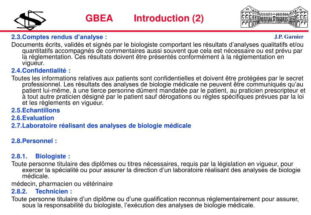 GBEA        Introduction (2)