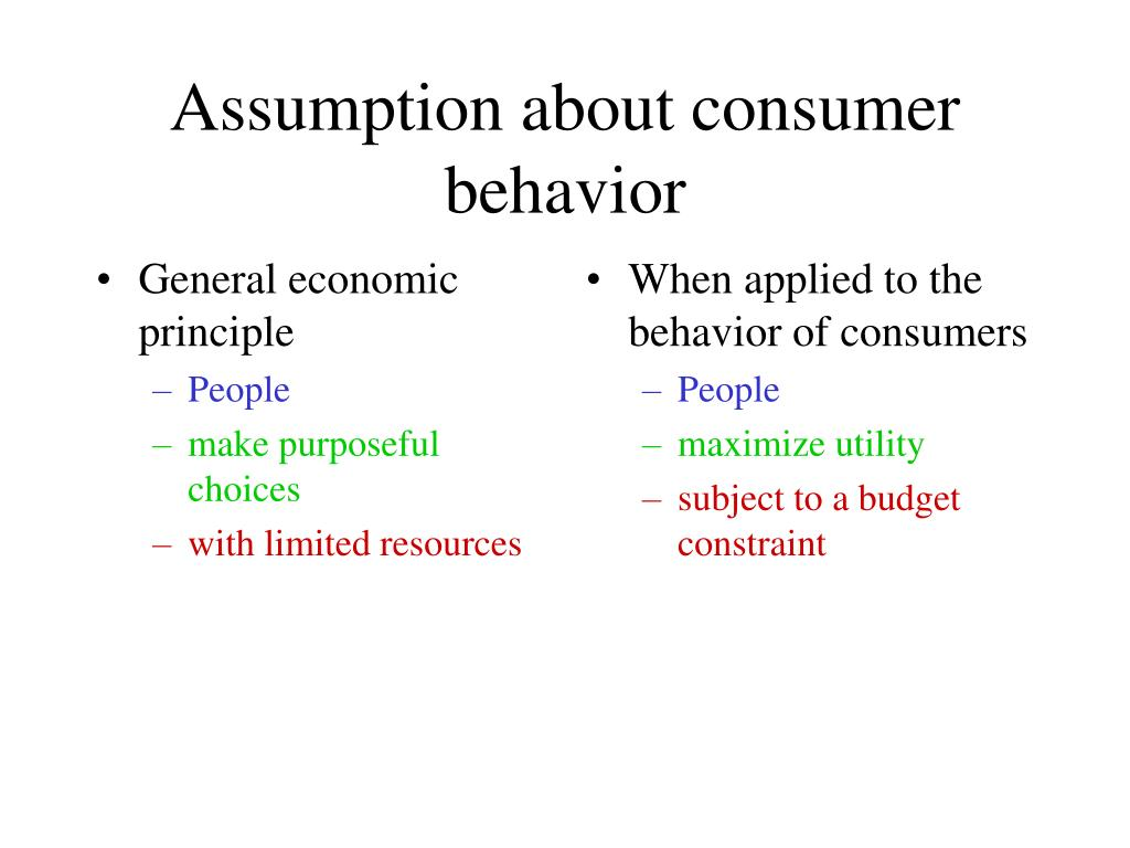 General economic principle
