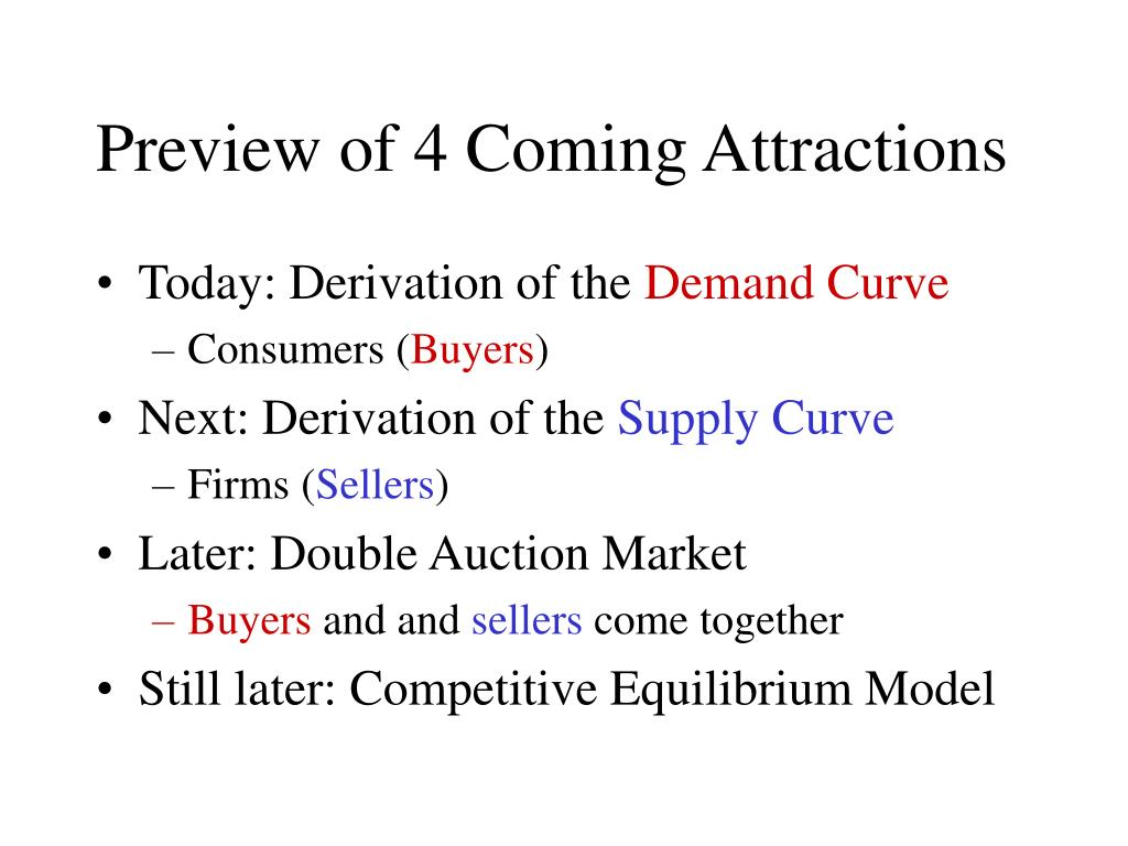 Preview of 4 Coming Attractions