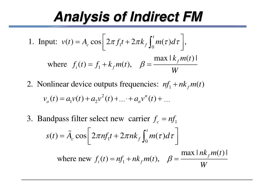 Analysis of Indirect FM