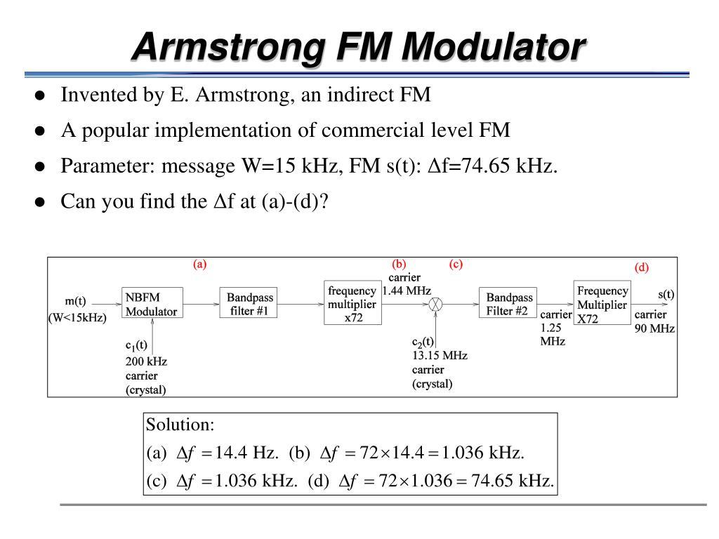 Armstrong FM Modulator