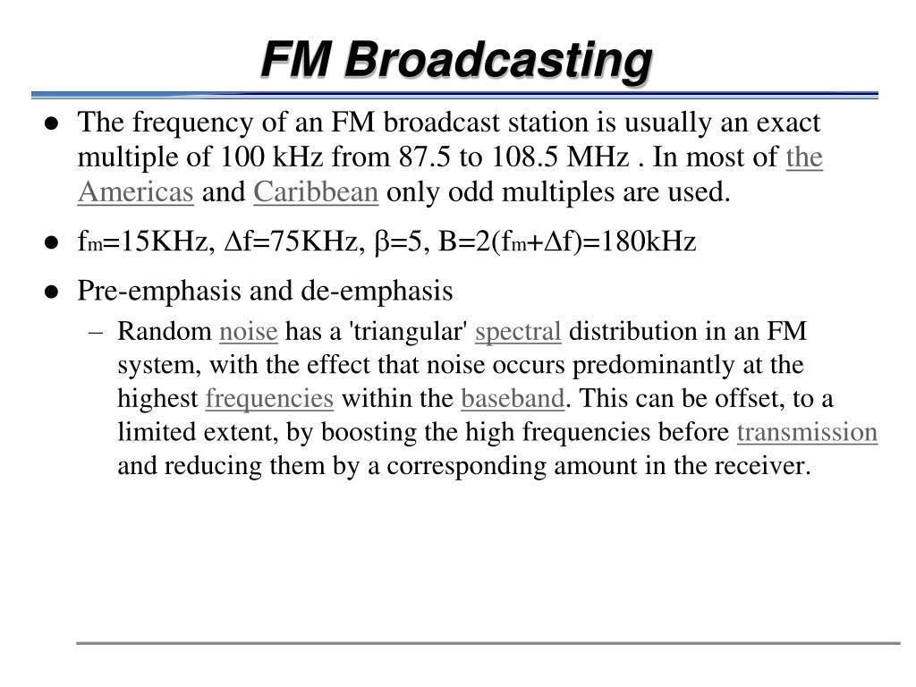 FM Broadcasting