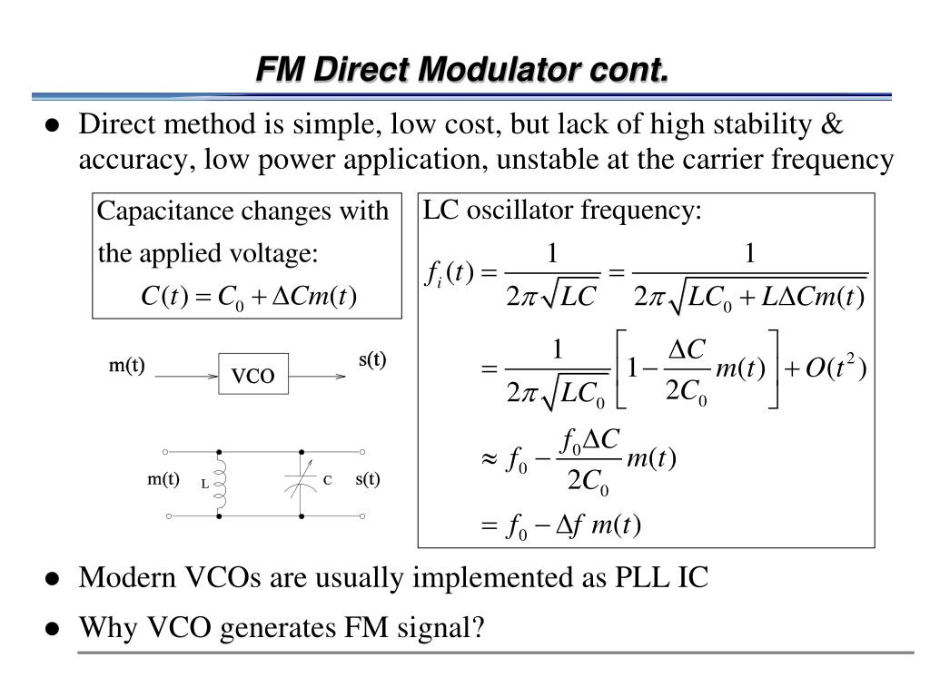 FM Direct Modulator cont.