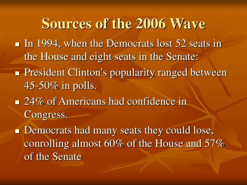 Sources of the 2006 Wave