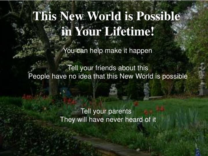 This New World is Possible