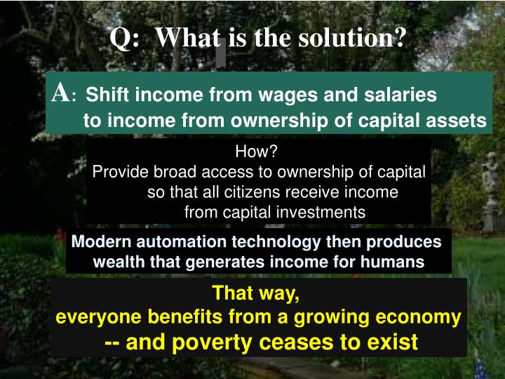 Q:  What is the solution?